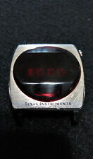 VINTAGE 1970 TEXAS INSTRUMENTS LED WRISTWATCH Working