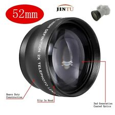 52mm 2.0x Telephoto Lens for Nikon D90 D700 D3000 D3100 D3200 D5100 D5200 18-55m