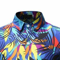 Tops dress shirt slim fit formal stylish floral men's casual long sleeve luxury