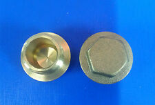 "1/2"" Inch  BSP  Brass Hexagon Head Flanged Plugs Qty 5.  #267"