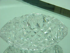 Waterford Crystal Football Paperweight Blank Preowned