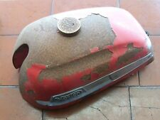 5041 - NORTON LIGHTWEIGHT TWIN PETROL TANK COMES WITH BADGES & ORIGINAL TAP-RED