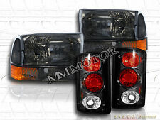 2000-2004 FORD EXCURSION BLACK (SMOKE, CLEAR) HEADLIGHTS & TAIL LIGHTS
