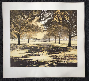 """PHILIP GREENWOOD b.1943 """"Shadow Lights"""" Limited edition ETCHING 141/150 1976"""