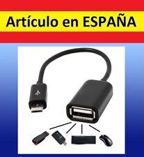 Cable adaptador MICRO USB USB 2.0 OTG conversor samsung Smartphone hembra macho