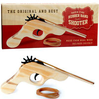 RUBBER BAND SHOOTING TOY GUN WOOD RETRO BOYS GIRLS GIFT PRESENT PARTY BAG FILLER