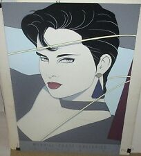 """PATRICK NAGEL MIRAGE EDITION """"CHICAGO"""" 1987 MERRILL CHASE GALLERIES POSTER"""