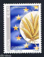 ITALIA 1 FRANCOBOLLO EUROPA CEPT GASTRONOMIA SPIGHE DI GRANO 2005 nuovo**