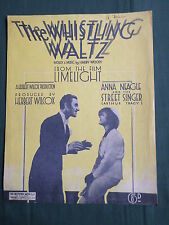 """ANNA NEAGLE - SHEETMUSIC - FOR THE SONG  """" THE WHISTLING WALZ """""""