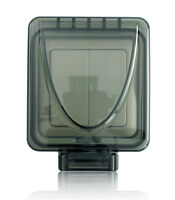 New Byron Home Easy HE402 Outdoor Double Light Switch 2 Gang Remote Control