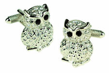 Owl with Crystals Cufflinks NEW in BOX 14703