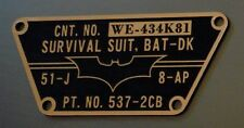 CUSTOM BATMAN THE DARK KNIGHT SURVIVAL SUIT (COSTUME) TACTICAL DATA PLATE