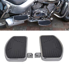 1 Pair Motorcycle Left+Right Floorboards Foot Boards Pedal Metal Steel Rubber