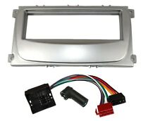 Kit adaptateur autoradio cadre 1DIN argent câble faisceau pour Ford Galaxy