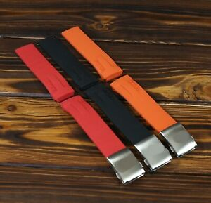 For Tissot T-Race Silicone Rubber Watch Strap 21mm, Band Fits T027 T048 + buckle