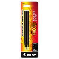 Pilot Refill for FriXion Erasable Gel Ink Pen Black 3/Pk 77330