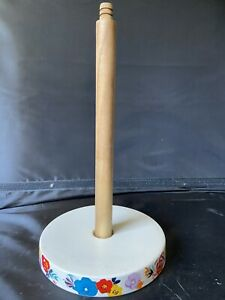 Pioneer Woman Floral Stoneware Paper Towel Holder Uncomplete GUC C1F