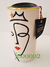 New STARBUCKS Coffee Siren Swarovski Crystals Red Bling Lips Double Wall Tumbler