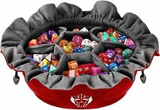 More details for cardkingpro large dice bags with pockets - red - capacity 150+ dice - great for