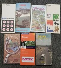 LOT of 7 Vintage Official Road Maps of Texas 1970's 1980's 2000's GOOD CONDITION