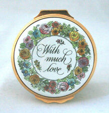 Halcyon Days Enamels 1983 Mother's Day With Much Love Jewelry Box