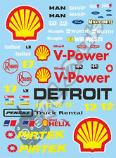 1/10 Touring Car decalcomania Sticker Set SHELL RACING-Xray VBR PR RACING Schumacher