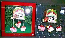Carlton CHARM ON THE FARM Heirloom  Ornament NEW IN BOX Cow Pig Chicken Sheep