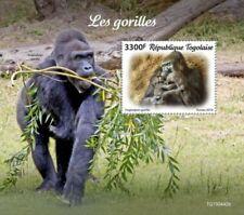 Togo - 2019 Gorillas on Stamps - Stamp Souvenir Sheet - TG190442b