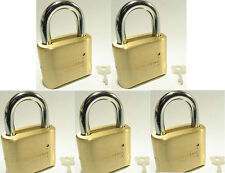 Lock, Brass, Master, Combination #175 (Lot 5) 4 Dial Resettable High Security