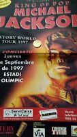 Michael Jackson. Barcelona. 1997.espectacular Pòster.