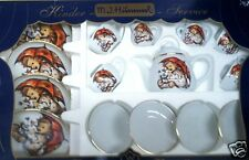 "Hummel Porcelain ""Umbrella Girl"" Child's Tea Set~Made In Germany~ New In Box"