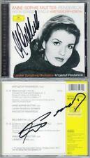 Anne-Sophie MUTTER & PENDERECKI Signed Violin Concerto 2 Metamorphosen BARTOK CD