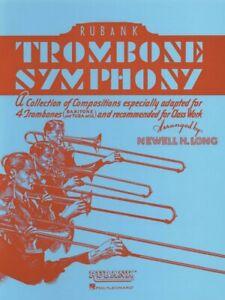 Trombone Symphony Sheet Music for Trombone Quartet Ensemble Book NEW 004475326