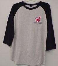 Cleveland Indians Long Live Chief Wahoo Colorblock Raglan Jersey T-Shirt XS-6XL