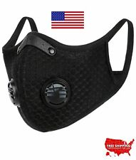 Cycling Face Mask With Active Carbon Filter Breathing Valves Reusable Sport Mask
