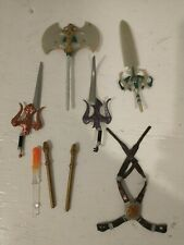 Masters of the Universe MOTU 200x He-Man 3x Swords, Axe, and Belt
