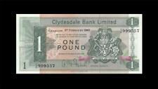 1.2.1965 CLYDESDALE BANK SCOTLAND GLASGOW 1 POUND (( GEM UNC ))