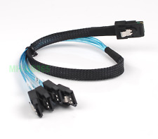 Internal Mini SAS (SFF-8087) M to 4x SATA 7-Pin F Forward Breakout Cable 50cm