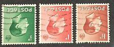Duzik: Gb Edward Viii 1936 Wmk Inverted used set of 3 (No1210)*