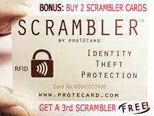 RFID PROTECTION- ONE SCRAMBLER by proTECard COVERS YOUR ENTIRE WALLET!