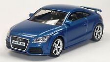 NEU: Audi TT RS Coupé Sammlermodell blau ca. 1:43 / 10cm Neuware von RMZ City