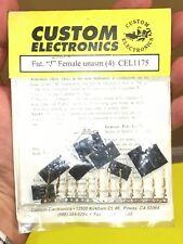 "New ListingVintage Rare Custom Rc Electronics Cel1175 Futaba ""J"" Female Unasm Connector Set"