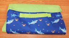 Iq Accessories Blue & Green Ocean Themed Picnic / Beach Fold up Blanket Mat