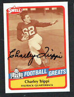 Charley Trippi #58 signed autograph 1989 Swell Pro Football Hall of Fame Card