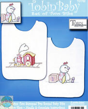 Cross Stitch Kit ~ Design Works / Tobin Giraffe Baby Girl Baby Bib Set # T21732