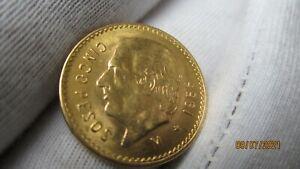 Goldmünze Mexiko 5 Pesos 1955
