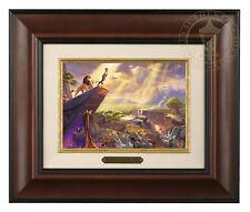 Thomas Kinkade Lion King 5 x 7 Framed Brushwork (Burl Frame)