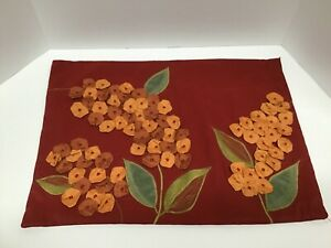 Pier 1 Imports 3D Floral Embroidered Zippered Pillow Covers Fall Autumn