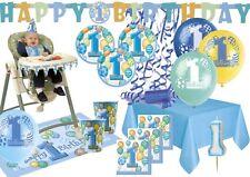 XXL Party Deko Komplett Set zum 1. Geburtstag für bis 16 Personen - Erster Blau