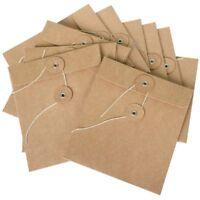 10 Pack Karton- Umschlaghüllen Aus Braunem Karton Auch Als Cd Hüllen-Tasche I1